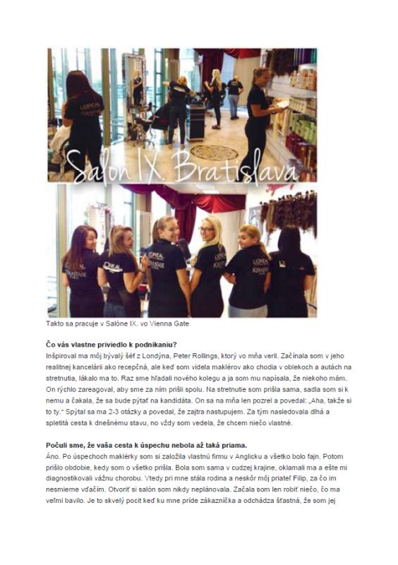 030f69f08a27 Napísali o nás   Salon IX - profesionálny kadernícky a kozmetický salón
