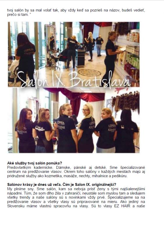 Napísali o nás   Salon IX - profesionálny kadernícky a kozmetický salón 36e01330d1f
